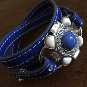 NWT Lia Sophia Blue Flower Bracelet
